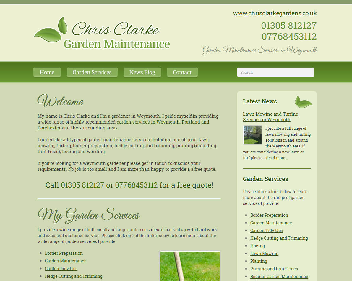 New Website For Local Weymouth Gardener