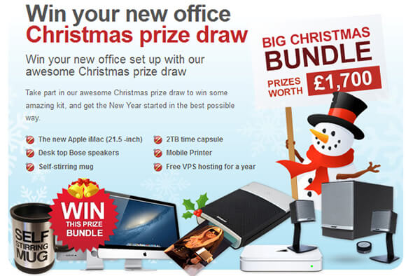Win Over £1700 Of Home Office Prizes With Heart Internet's Christmas Compeition