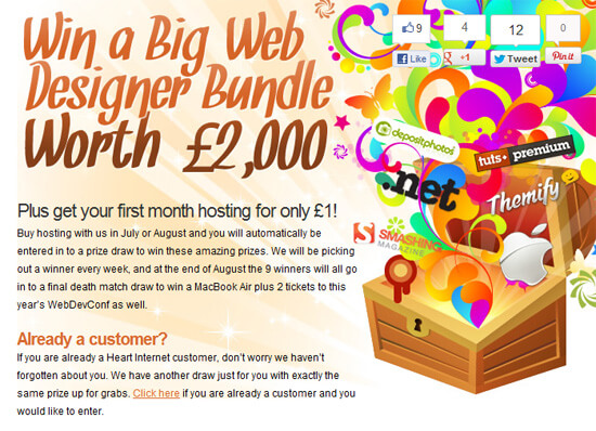 Win £2,000 Worth Of Goodies From Heart Internet