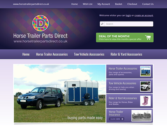 Branding And Ecommerce Website Horse Trailer Parts Direct