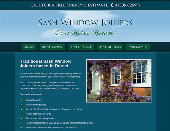 New Content Management System Website For Sash Window Joiners
