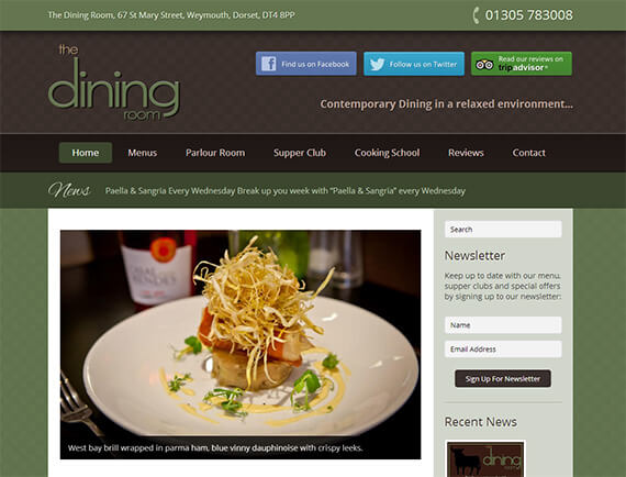 Delicious New Website For The Dining Room