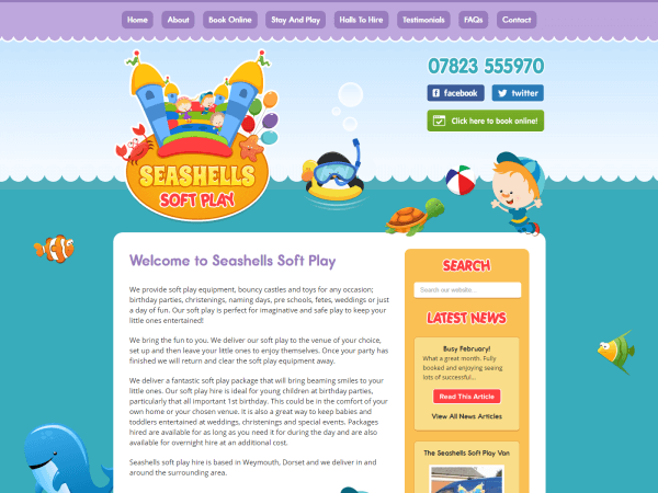 Seashells Soft Play