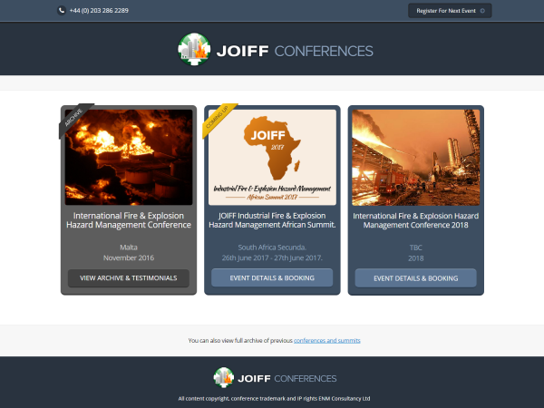 JOIFF Conferences