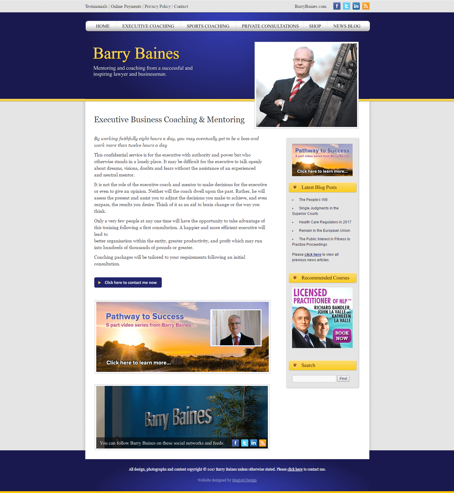 Barry Baines Executive Business Coaching