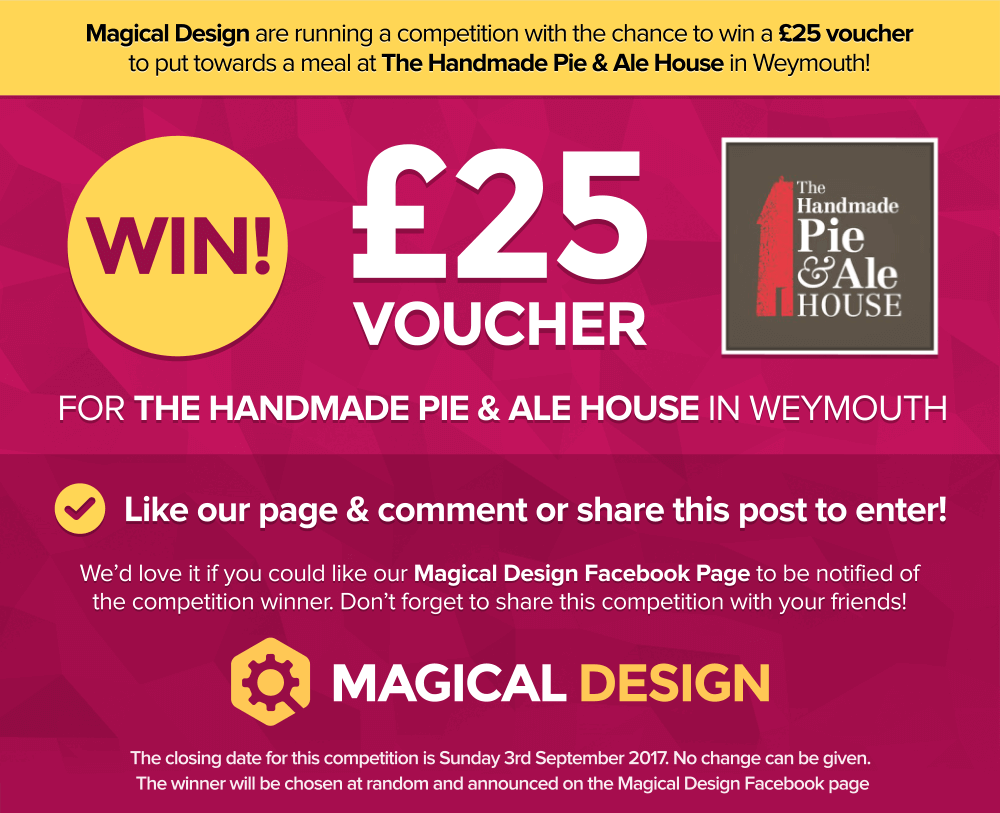 Competition To Win £25 Voucher At The Handmade Pie & Ale House