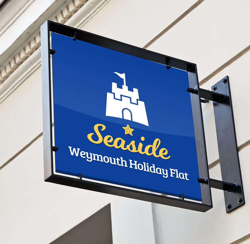 Seaside Sign Mockup 1500px