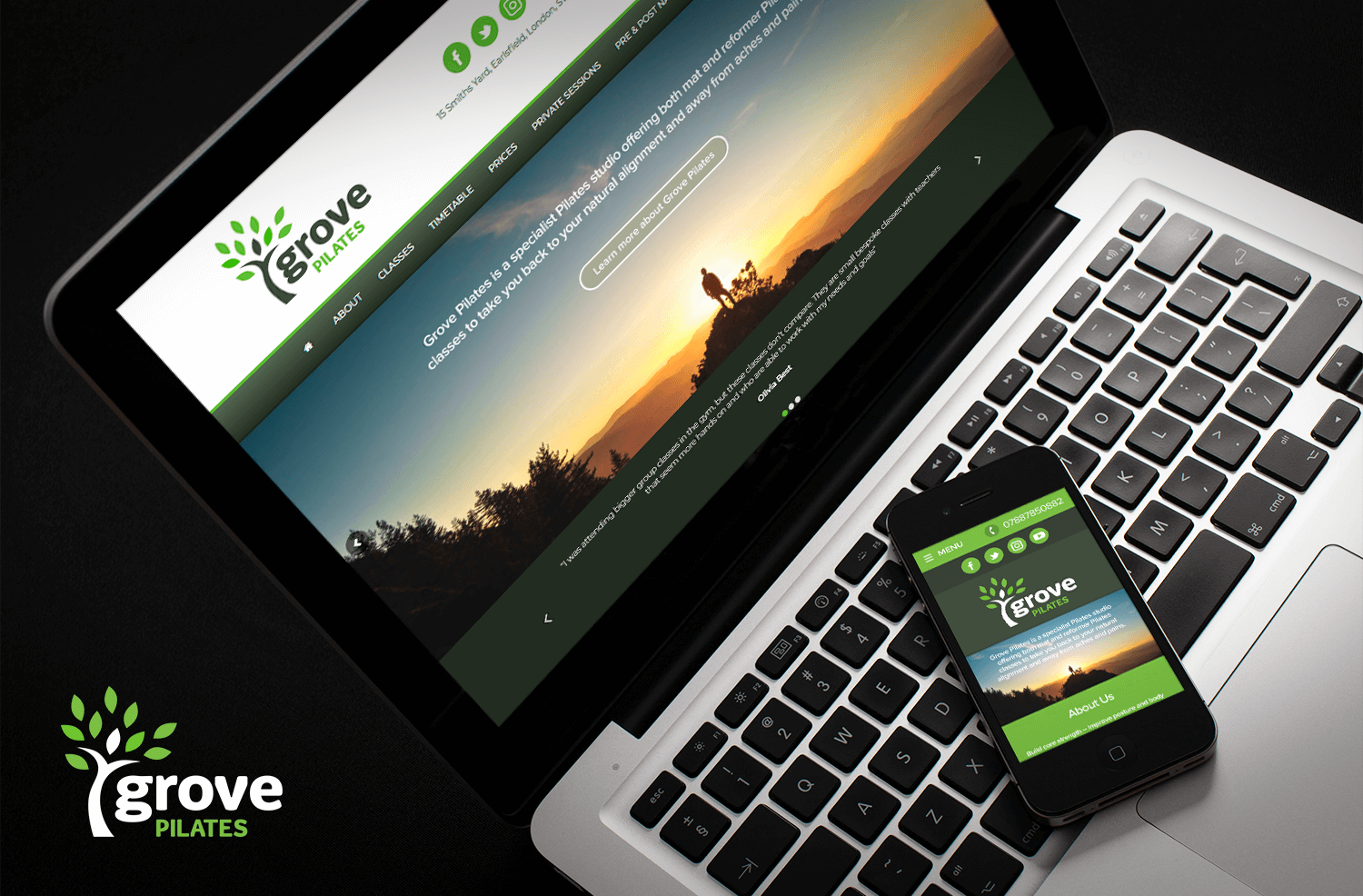 New Year, New Website For Grove Pilates