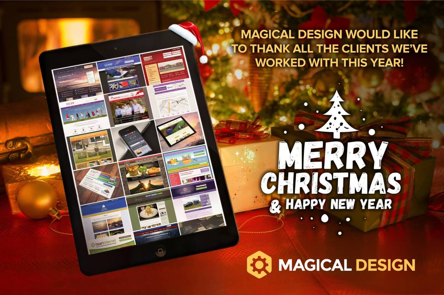 Merry Christmas And A Happy New Year From Magical Design!
