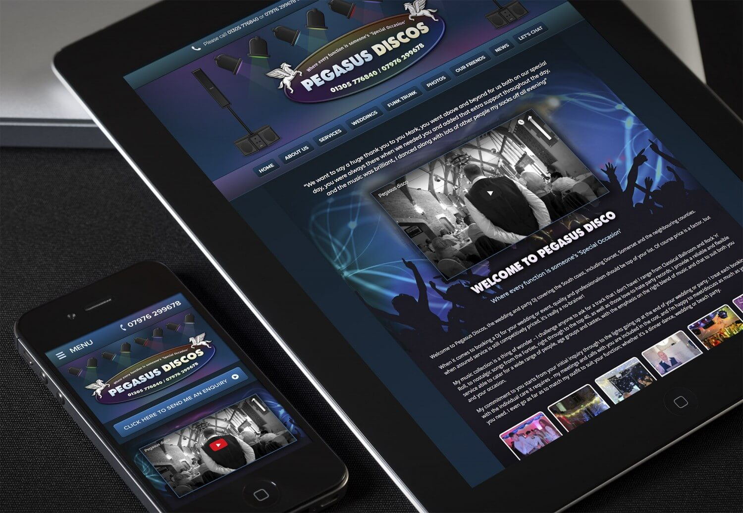 New Website Design For Pegasus Disco