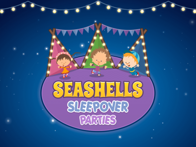 Logo Design For Seashells Sleepover Parties