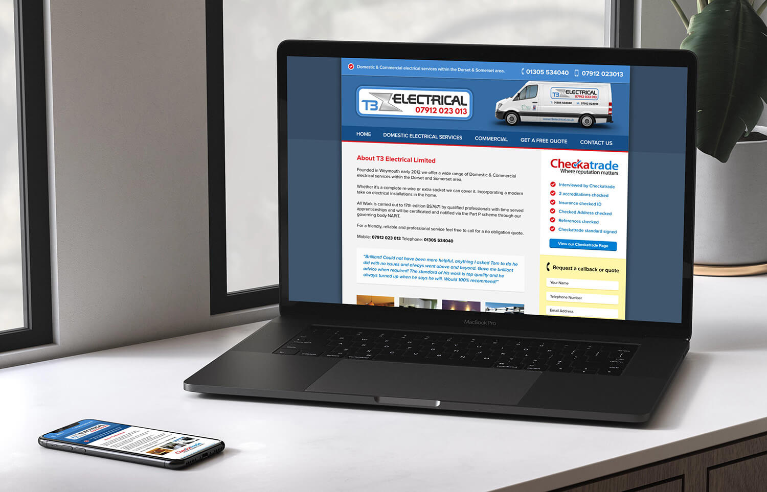 New Website For Weymouth Based Electricians T3 Electrical